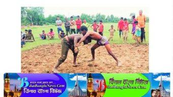 কুলাউড়ার চা বাগানে অনুষ্ঠিত হলো ঐতিহ্যবাহী কুস্তি খেলা